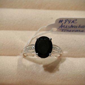 Australian Black Tourmaline Ring